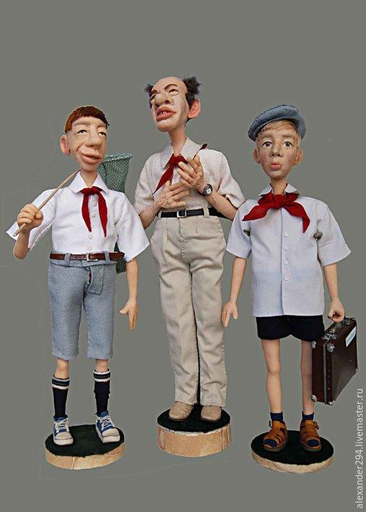 Коллекционные куклы ручной работы. Ярмарка Мастеров - ручная работа. Купить Пионерское детство моё. Handmade. Разноцветный, лагерь, картон
