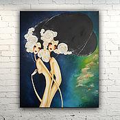 """Картины и панно ручной работы. Ярмарка Мастеров - ручная работа Картина масло холст  """"Прекрасные Девы"""". Handmade."""