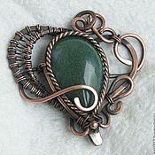 Украшения ручной работы. Ярмарка Мастеров - ручная работа Кулон Сердце wire wrap. Handmade.