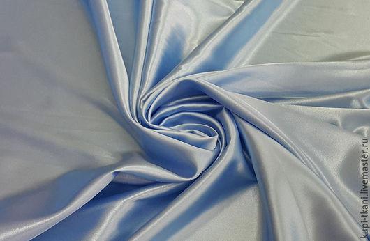Шитье ручной работы. Ярмарка Мастеров - ручная работа. Купить Атлас стрейч голубой. Handmade. Атлас, атласная ткань