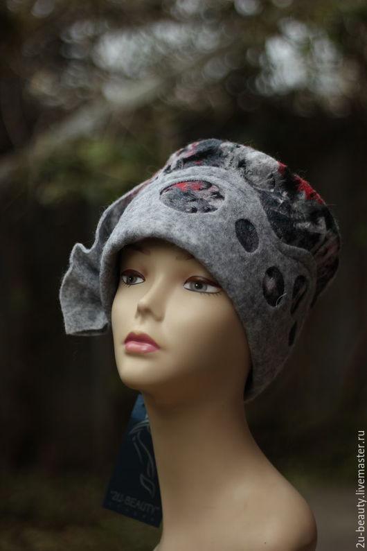 Шляпы ручной работы. Ярмарка Мастеров - ручная работа. Купить Дизайнерская шляпка из шерсти. Авторская ручная работа. АРТ.. Handmade.