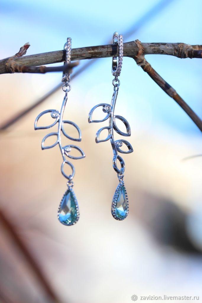 Long Twig earrings. Buy earrings, Earrings, Chelyabinsk,  Фото №1