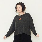 Одежда handmade. Livemaster - original item Francis jumper, wool with acrylic and mohair. Handmade.