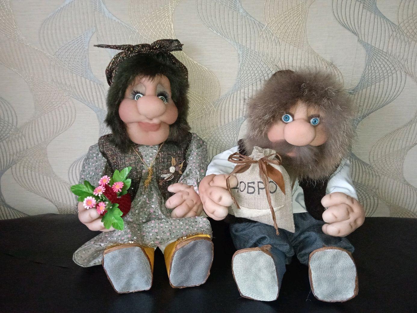 Интерьерные куклы ручной работы Домовой и Домовиха, Интерьерная кукла, Борисоглебск,  Фото №1