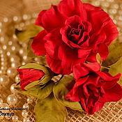 Цветы и флористика ручной работы. Ярмарка Мастеров - ручная работа Цветы из фоамирана Букетик роз 7. Handmade.