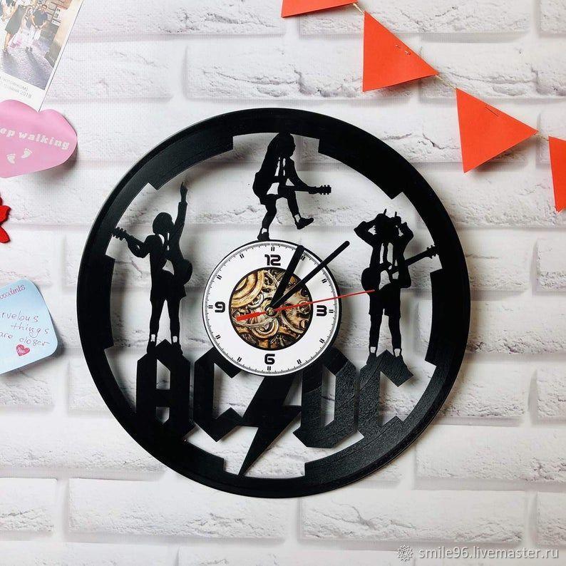 """Часы из пластинки """"ACDC"""", Часы из виниловых пластинок, Екатеринбург,  Фото №1"""