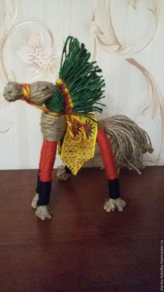 Народные куклы ручной работы. Ярмарка Мастеров - ручная работа. Купить Солнечный конь. Кукла оберег.. Handmade. Коричневый
