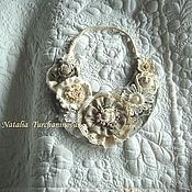 Украшения handmade. Livemaster - original item Textile necklace Boho style
