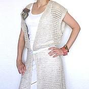 Одежда ручной работы. Ярмарка Мастеров - ручная работа Бохо-жилет длинный. Handmade.