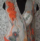 """Одежда ручной работы. Ярмарка Мастеров - ручная работа Комплект валяный жилет+сумочка """"Эмили"""". Handmade."""