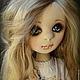 Коллекционные куклы ручной работы. Ярмарка Мастеров - ручная работа. Купить Амели и Уголек.. Handmade. Бежевый, черный, ресницы искусственные