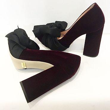Обувь ручной работы. Ярмарка Мастеров - ручная работа Туфли с бантом. Handmade.