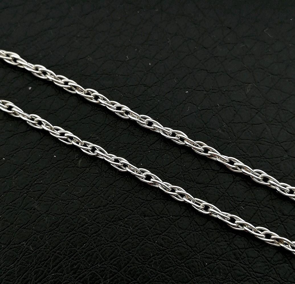 """Цепь серебряная """"двойная кордовая"""" 60 см (серебро 925 пр, Цепочка, Симферополь,  Фото №1"""
