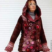 "Одежда ручной работы. Ярмарка Мастеров - ручная работа Жакет валяный ""Парад планет"". Handmade."
