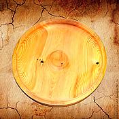 Тарелки ручной работы. Ярмарка Мастеров - ручная работа Кедровая тарелка 34см, блюдо из сибирского кедра - ручная работа #T3. Handmade.