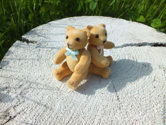 Куклы и игрушки ручной работы. Ярмарка Мастеров - ручная работа. Купить Миниатюрные мишки (парочка). Handmade. Бежевый, миниатюрный мишка