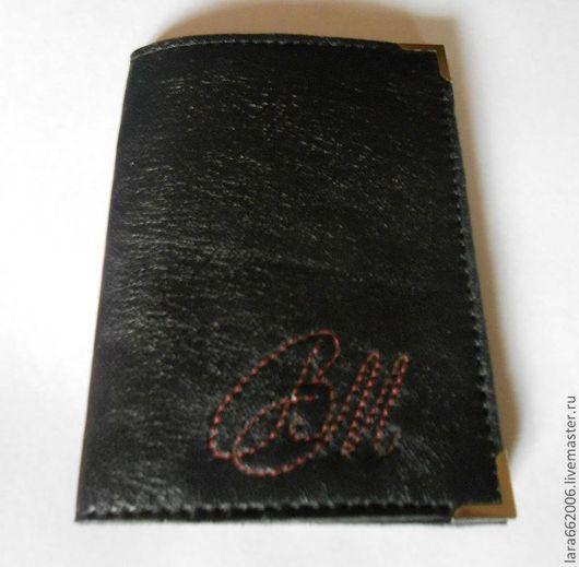 Обложка на паспорт, обложка кожаная, обложка из натуральной кожи,  именная обложка на паспорт, ручная работа, Lara & Ko