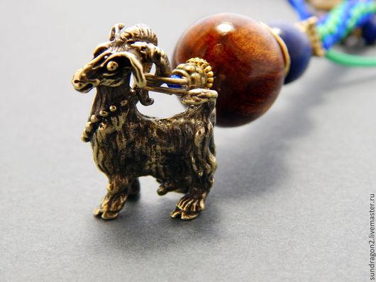 """Брелоки ручной работы. Ярмарка Мастеров - ручная работа. Купить брелок """"Коза"""" бронза ручного литья. Handmade. Брелок, коза"""
