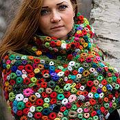 Аксессуары handmade. Livemaster - original item Crocheted shawl