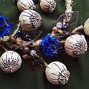 """Украшения ручной работы. Ярмарка Мастеров - ручная работа """"Цветущая степь"""" колье и серьги. Handmade."""