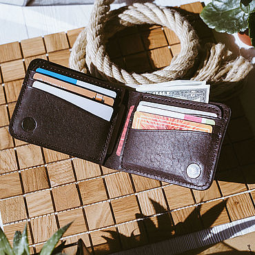 Bags and accessories handmade. Livemaster - original item Tennessee men`s wallet. Handmade.