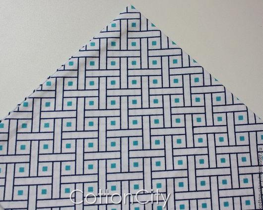 Шитье ручной работы. Ярмарка Мастеров - ручная работа. Купить Американский хлопок Синие квадраты. Handmade. Набор тканей