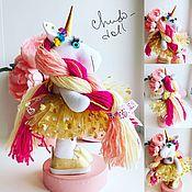 Мягкие игрушки ручной работы. Ярмарка Мастеров - ручная работа Единорог, кукла текстильная. Handmade.