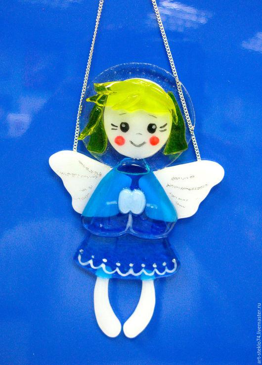 Подарки на Пасху ручной работы. Ярмарка Мастеров - ручная работа. Купить «Ангелочек-девчушка», фьюзинг. Handmade. Стекло, стекло для фьюзинга
