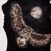 "Одежда handmade. Livemaster - original item Jacket black ""owl on the hunt"". Handmade."
