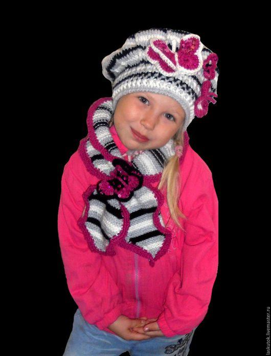 Одежда для девочек, ручной работы. Ярмарка Мастеров - ручная работа. Купить Комплект Осенние бабочки. Handmade. Комбинированный, тепло, для модниц