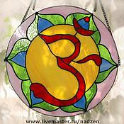 Для дома и интерьера ручной работы. Ярмарка Мастеров - ручная работа Панно ОМ ловец солнца цветное стекло. Handmade.