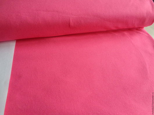 """Шитье ручной работы. Ярмарка Мастеров - ручная работа. Купить Кулирная гладь с лайкрой """"Яркий розовый"""".. Handmade. Розовый, кулирка"""