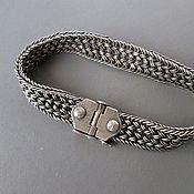 Украшения ручной работы. Ярмарка Мастеров - ручная работа браслет мужской из серебра. Handmade.