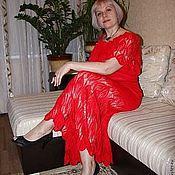 Одежда ручной работы. Ярмарка Мастеров - ручная работа вязаное платье-сарафан. Handmade.