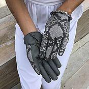 Аксессуары handmade. Livemaster - original item gloves from Python. Handmade.