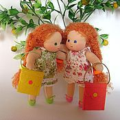 """Куклы и игрушки ручной работы. Ярмарка Мастеров - ручная работа Куклы """"Ранетки"""" - вальдорфские подружки 16 см. Handmade."""