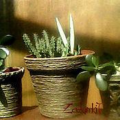Для дома и интерьера ручной работы. Ярмарка Мастеров - ручная работа Кашпо- горшок. макраме. Handmade.
