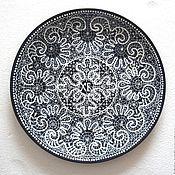 Посуда ручной работы. Ярмарка Мастеров - ручная работа Тарелка Пасхальная Кружевная. Handmade.