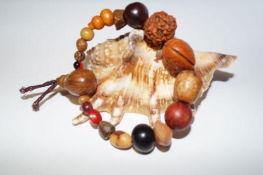 Браслеты ручной работы. Ярмарка Мастеров - ручная работа. Купить браслет защитный амулет из семян Бодхи. Handmade. Коричневый, семя