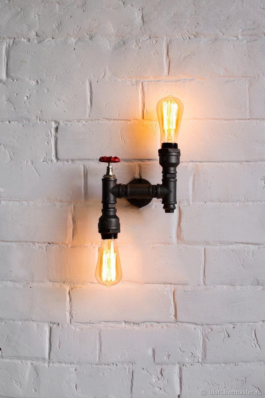Lamp-wall lamp made of water pipes ' Deglas 6', Wall lights, Ivanovo,  Фото №1