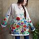 Кофты и свитера ручной работы. Цветущие маки...космоса знаки :). Alena Barabulka. Интернет-магазин Ярмарка Мастеров. Рисунок