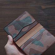 Сумки и аксессуары handmade. Livemaster - original item GHOST CAMOUFLAGE leather passport cover. Handmade.