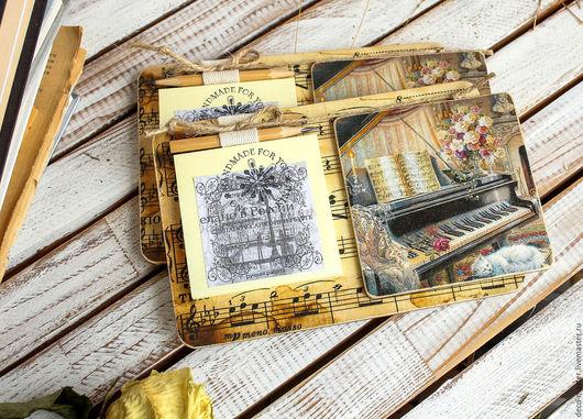 Магниты ручной работы. Ярмарка Мастеров - ручная работа. Купить магнит с блоком для записей МУЗЫКА 003. Handmade. Сувениры и подарки