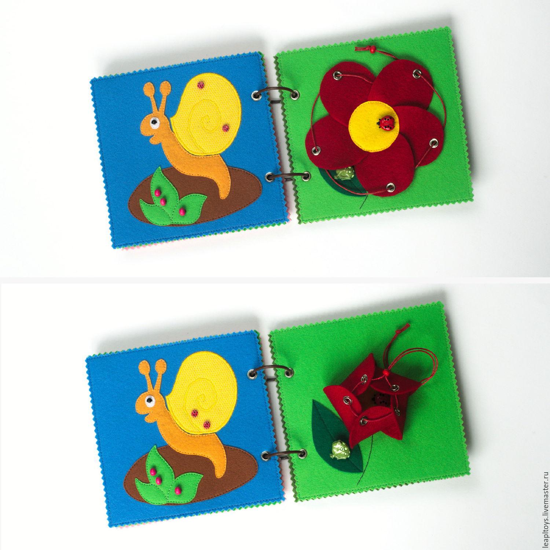 Книжки для малышей из фетра