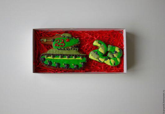 Кулинарные сувениры ручной работы. Ярмарка Мастеров - ручная работа. Купить Пряничный набор на 23 февраля для мужчины #1. Handmade.