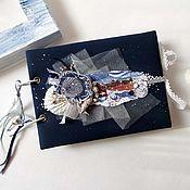"""Канцелярские товары handmade. Livemaster - original item Мини-фотоальбом """"Дыхание моря"""". Handmade."""