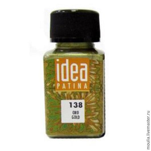Металлич краска под химичес патину IDEA MAIMERI, 60мл арт 138 золото  5/0