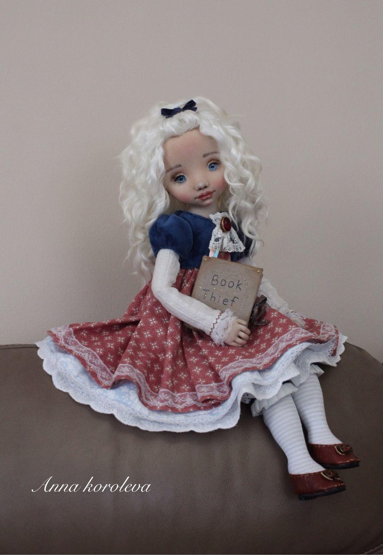 Текстильная Авторская Коллекционная кукла  Лизель, Куклы и пупсы, Ангарск,  Фото №1
