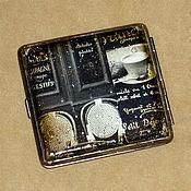 """Сувениры и подарки ручной работы. Ярмарка Мастеров - ручная работа Портсигар """"Cafe Paris"""". Handmade."""