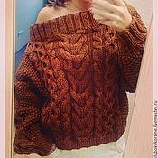 Одежда ручной работы. Ярмарка Мастеров - ручная работа свитер с косами и аранами. Handmade.